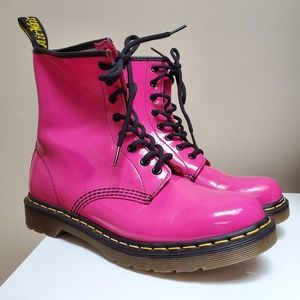 1460 Hot Pink Patent Fuchsia Combat Boots 9